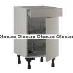 Single Drawerline Base 2 X Chrome Pullout Baskets
